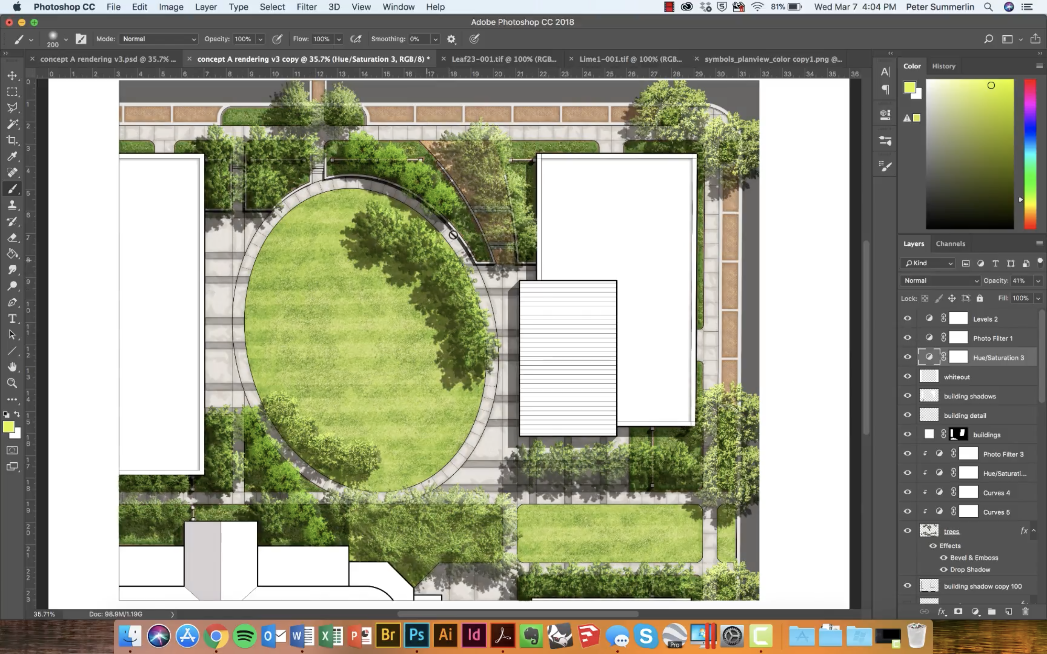 How to Create Realistic Trees for your Site Plan Renderings in